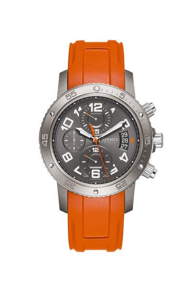 Hermès - Clipper Chronograph Watch, 44mm