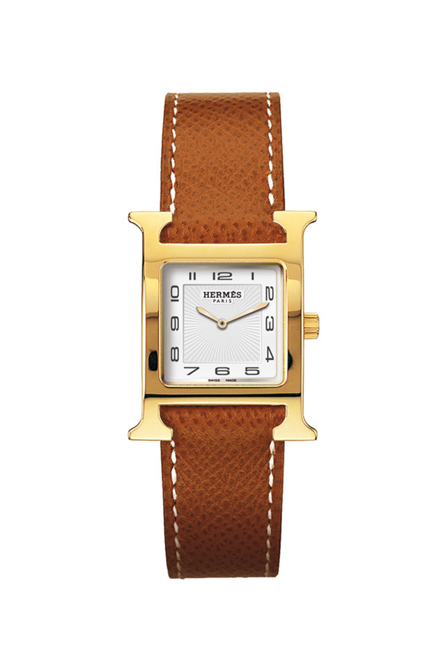 Heure H PM Gold Plated Watch, Small Model