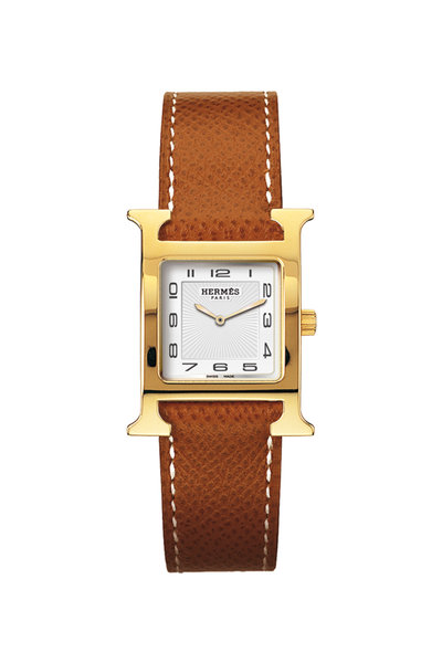Hermès - Heure H PM Gold Plated Watch, Small Model