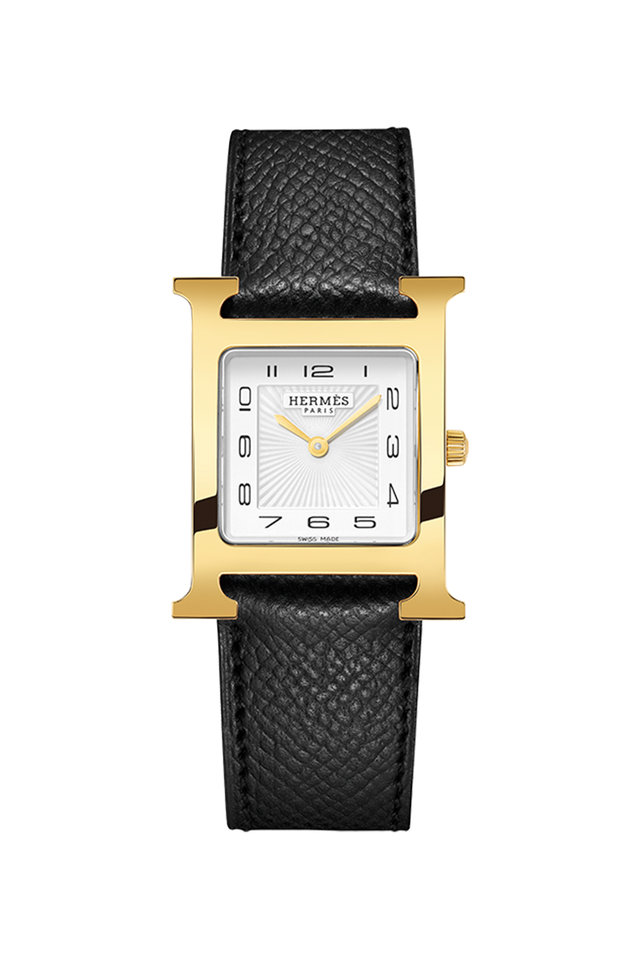 Heure H MM Gold Plated Watch, Medium Model