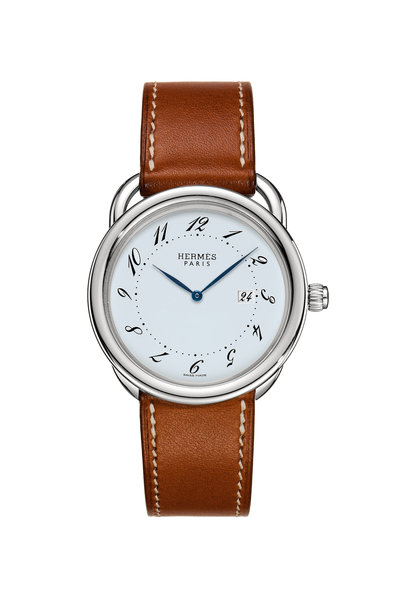 Hermès - Brown Leather Circle Watch