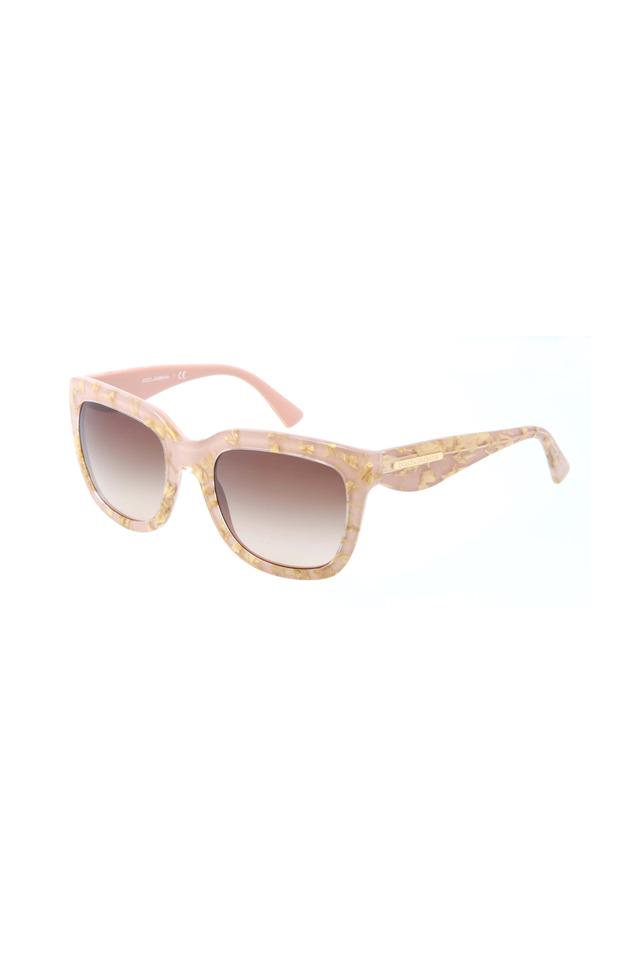 Square Pink & Gold Leaf Sunglasses