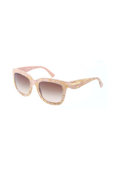Dolce & Gabbana - Square Pink & Gold Leaf Sunglasses