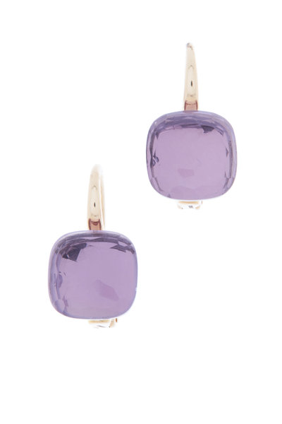 Pomellato - Nudo Rose Gold Rose De France Amethyst Earrings