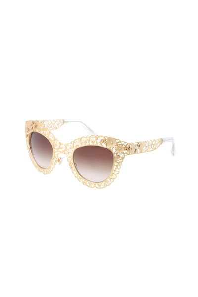 Dolce & Gabbana - Gold Cat-Eye Sunglasses