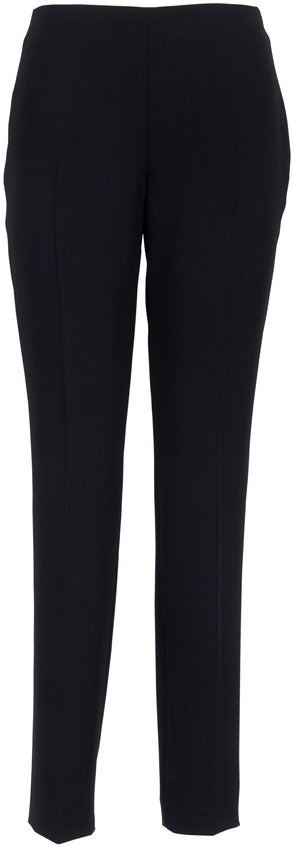 Akris Melissa Black Double-Faced Wool Pant