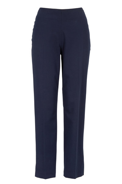 Brunello Cucinelli - Navy Blue Stretch Cotton Ankle Pant