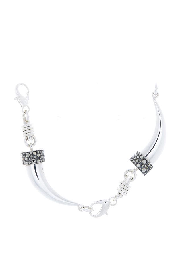 Sterling Silver Marcasite Horn Bracelet