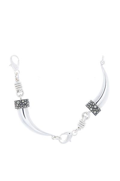 Pomellato - Sterling Silver Marcasite Horn Bracelet