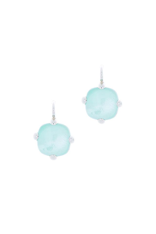Sterling Silver Blue Quartz Drop Earrings