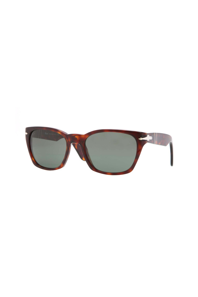 PO3058S Square Havana Sunglasses