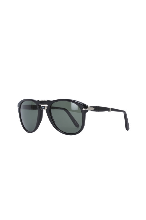 Persol Keyhole Black Polarized Sunglasses