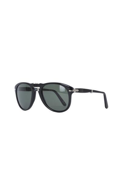 Persol - Keyhole Black Polarized Sunglasses