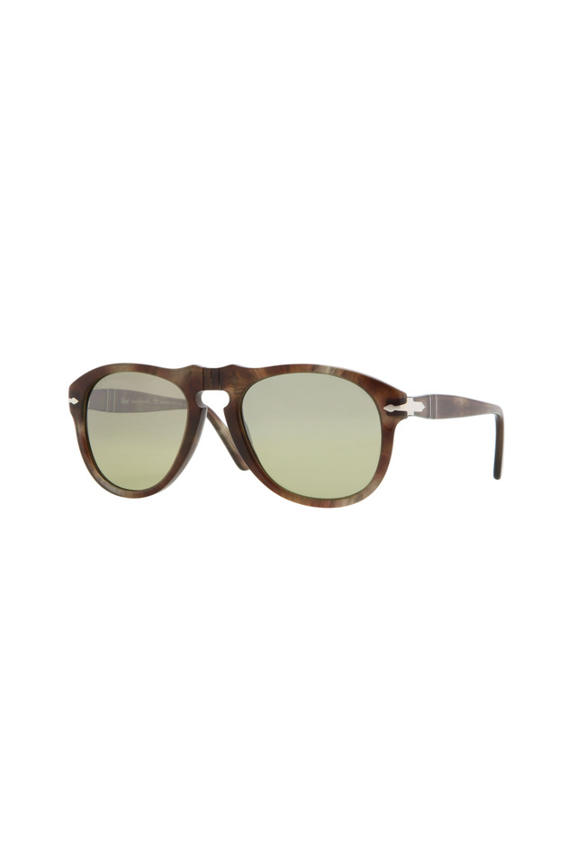Retro Brown Keyhole Sunglasses