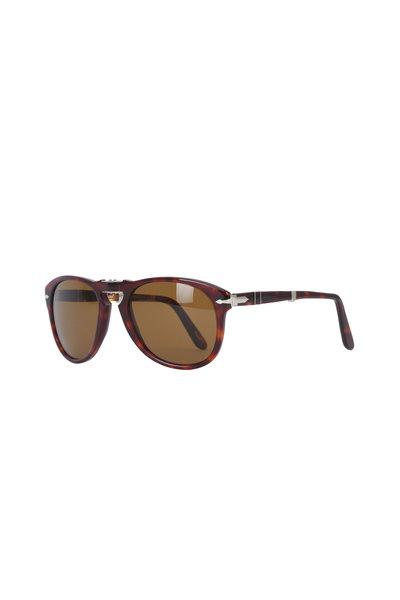 Persol - Keyhole Havana Polarized Sunglasses