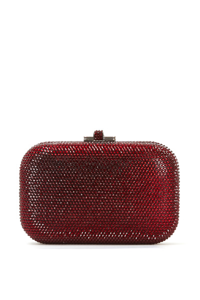 Judith Leiber Couture - Red Crystal Slide Lock Minaudière