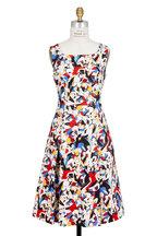 Carolina Herrera - Multicolor Archive Tango Dancer Print Dress