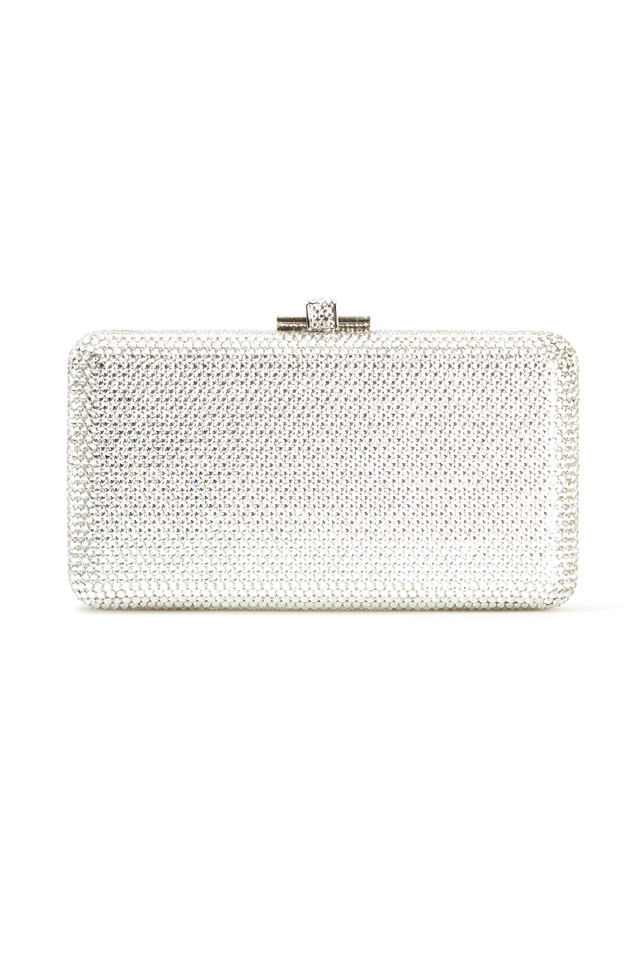 Airstream Silver Beaded Minaudiere Clutch