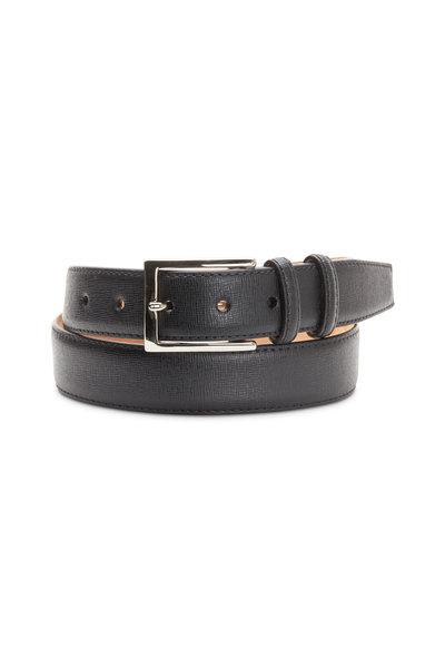 W Kleinberg - Black Mini Kross Leather Belt