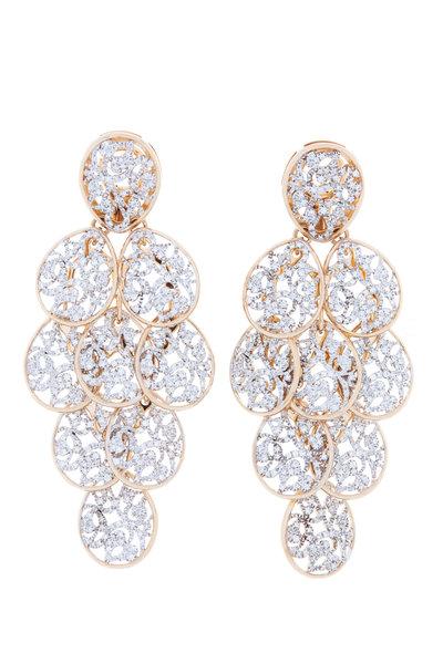 Pomellato - Pink Gold Fancy Diamond Earrings