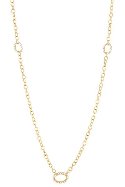 Caroline Ellen - Yellow Gold Pavé Diamond Necklace