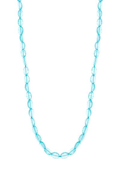Caroline Ellen - Yellow Gold Apatite Bead Necklace