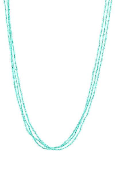 Caroline Ellen - Emerald Bead Necklace