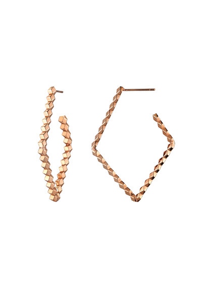 Paolo Costagli - Rose Gold Diamond Hoops