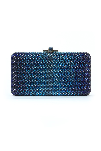 Judith Leiber Couture - Airstream Indigo Blue Beaded Minaudiere Clutch