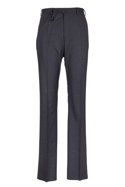 Incotex - Benson Charcoal Gray Tropical Wool Pant