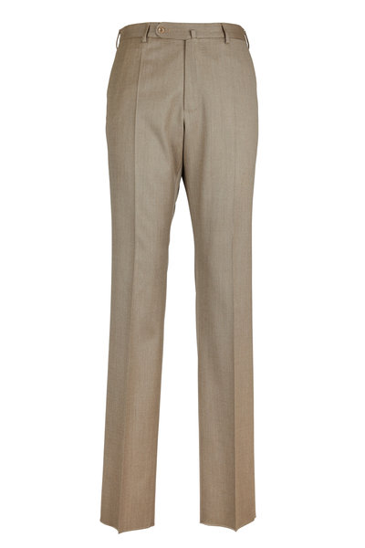 Incotex - Benson Tan Wool Blend Trousers
