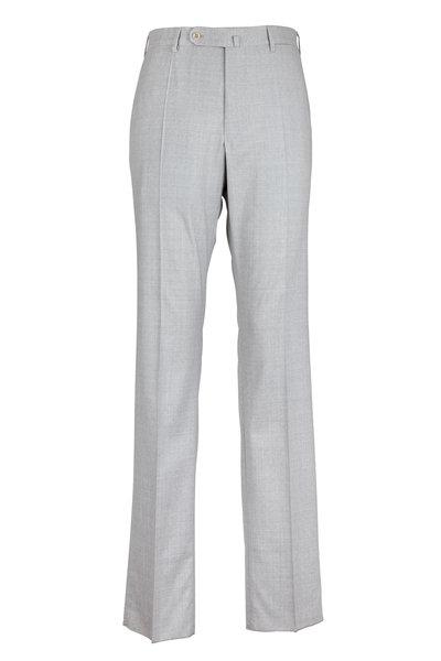 Incotex - Benson Light Gray Tropical Wool Pant