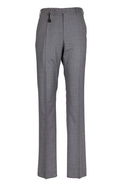 Incotex - Benson Medium Gray Tropical Wool Pants