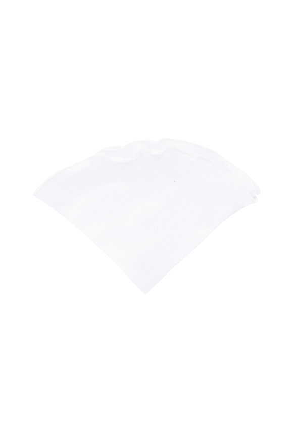 Butterfly Bowtie White Linen Pocket Circle
