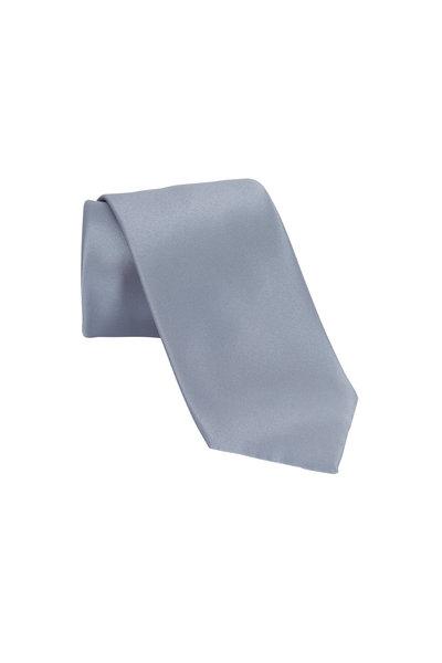 Brioni - Silver Silk Formal Four-In-Hand Necktie