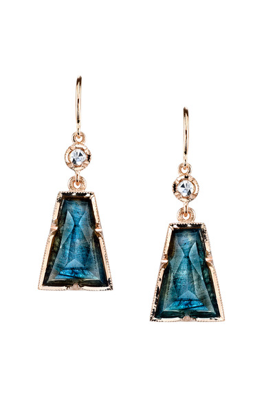 Irene Neuwirth - Labradorite Trapeziod Earrings