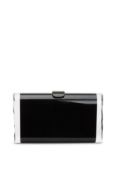 Edie Parker - Lara Solid Black Acrylic Clutch
