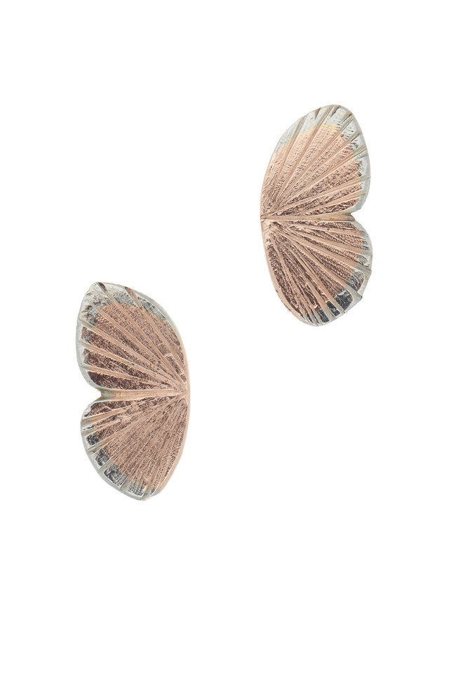 Gold Butterfly Hinged Earrings