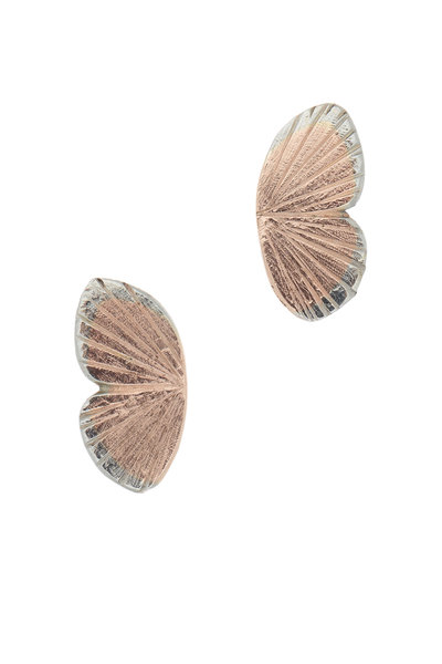 James Banks - Gold Butterfly Hinged Earrings