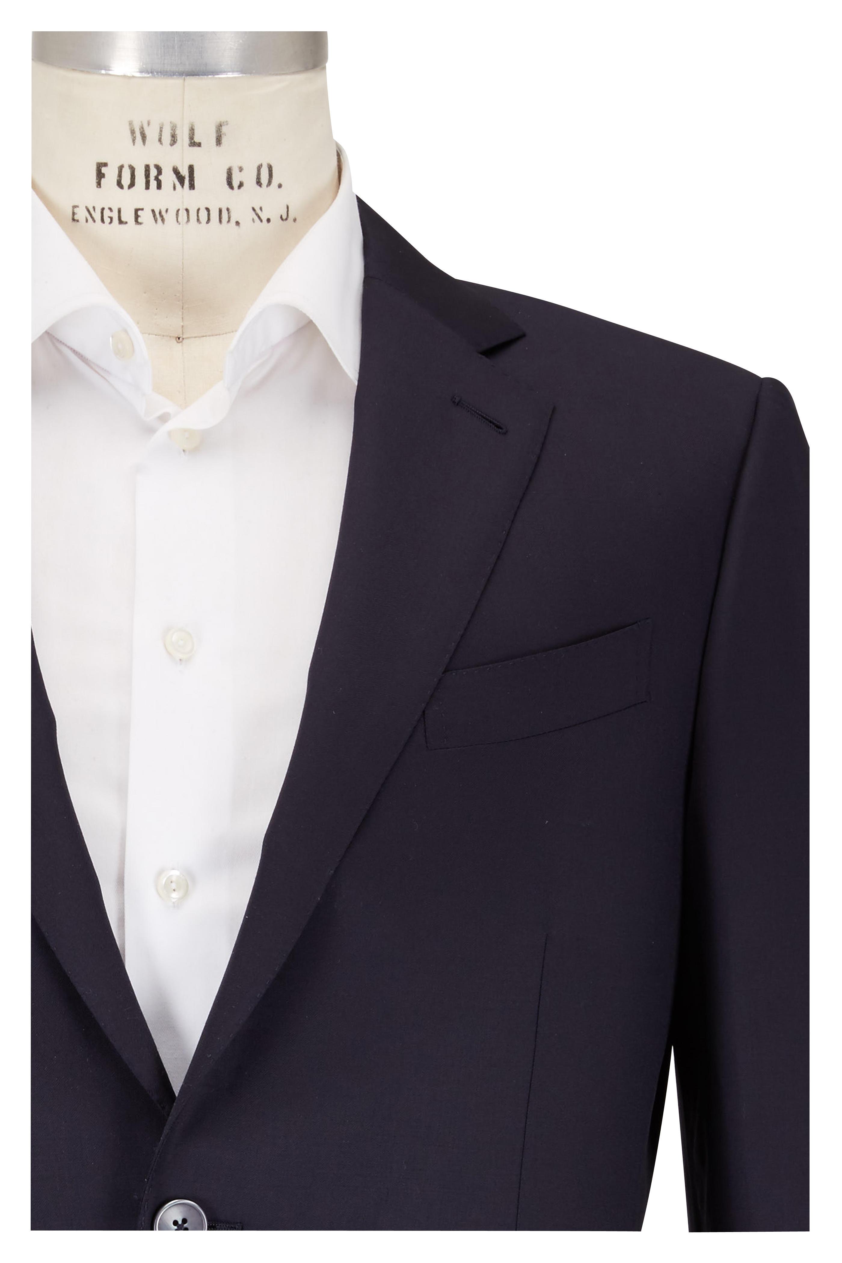 8cd34b6e5b Ermenegildo Zegna - Solid Navy Blue Wool Sportcoat   Mitchell Stores