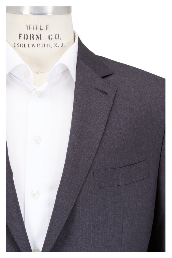 Ermenegildo Zegna Solid Gray Micronsphere Wool Suit