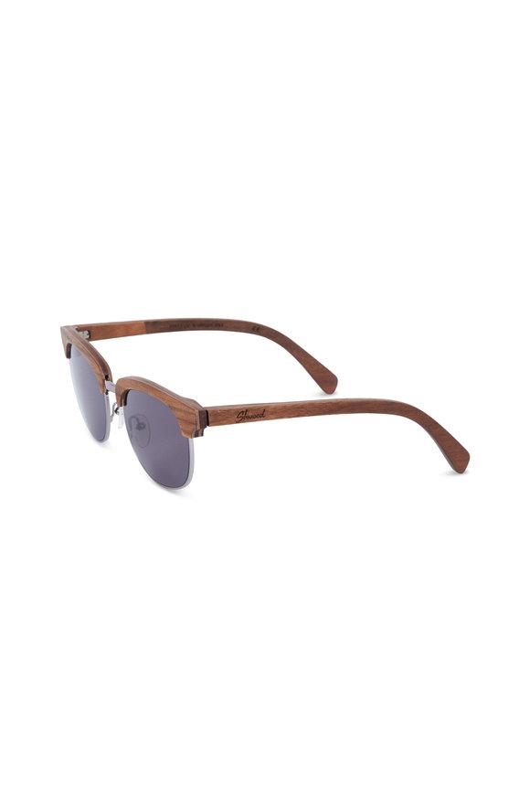 Shwood Eugene Silver & Walnut Polarized Pilot Sunglasses