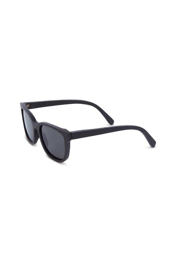 Shwood Prescott Walnut Polarized Rectangular Sunglasses