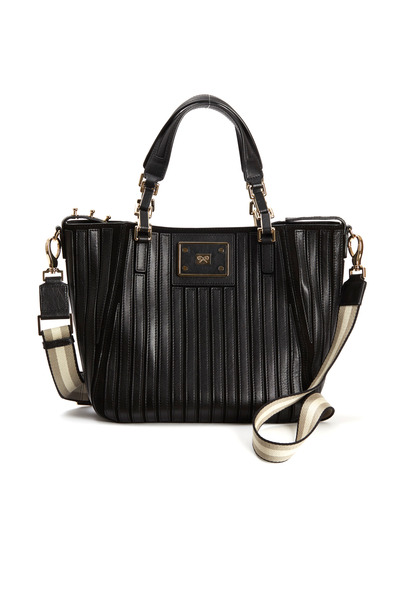 Anya Hindmarch - Belvedere Black Leather Small Shoulder Bag