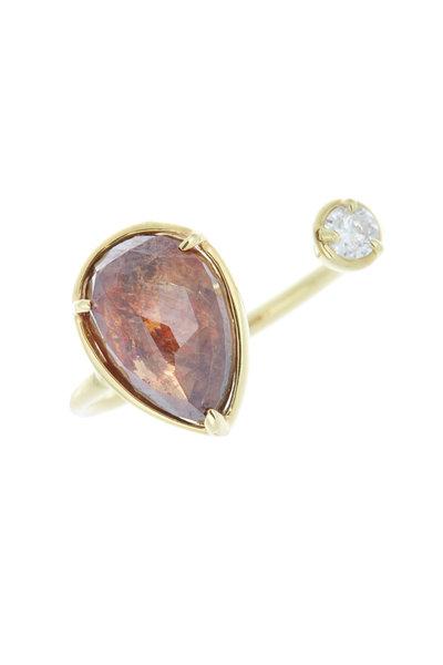 Kimberly McDonald - Yellow Gold Diamond Finger Cuff Ring