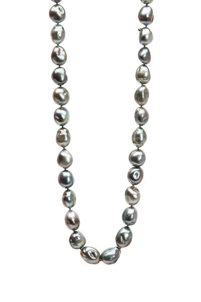 Frank Ancona - Black Tahitian Pearl Diamond Necklace