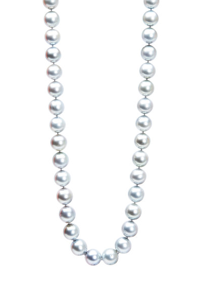 Frank Ancona - White Gold Opera Tahitian Pearl Necklace