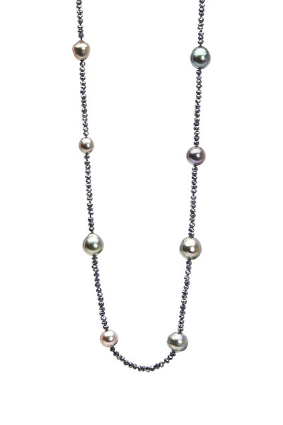 Frank Ancona - Black Spinel & Black Tahitian Pearl Necklace