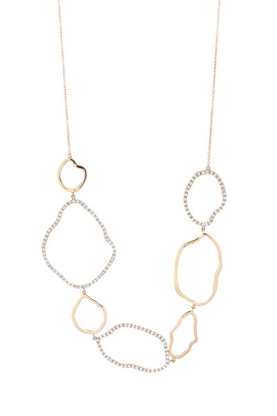 Kimberly McDonald - Rose Gold Geode Outline Diamond Necklace