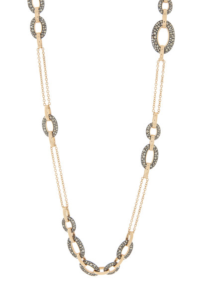 Pomellato - 18K Pink Gold & Brown Diamond Long Tango Necklace